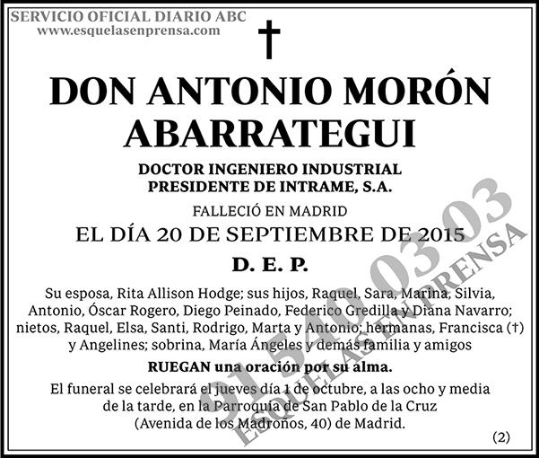 Antonio Morón Abarrategui